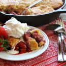 Strawberry Shortcake Skillet Cobbler - RecipeGirl.com