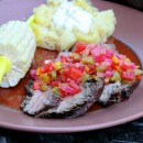 Flank Steak with Tomato- Pepper Salsa