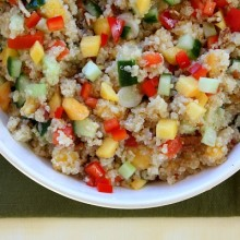 Peach and Pecan Quinoa Salad 1