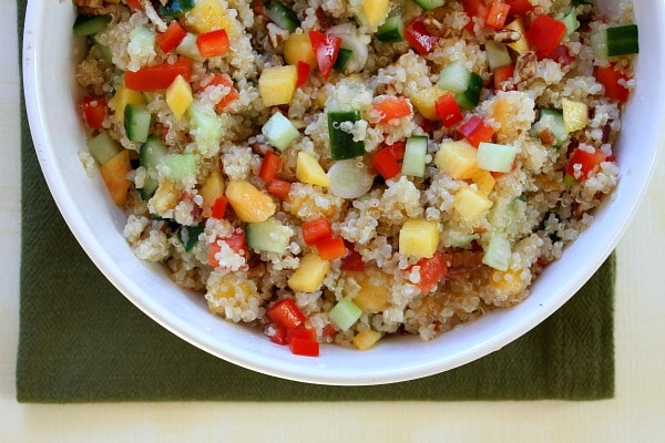 Peach and pecan quinoa salad recipe girl peach and pecan quinoa salad recipe from recipegirl forumfinder Images