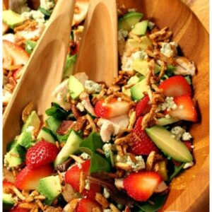 pinterest collage image for Strawberry Chicken Salad