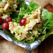 Fruity Curry Chicken Salad - RecipeGirl.com