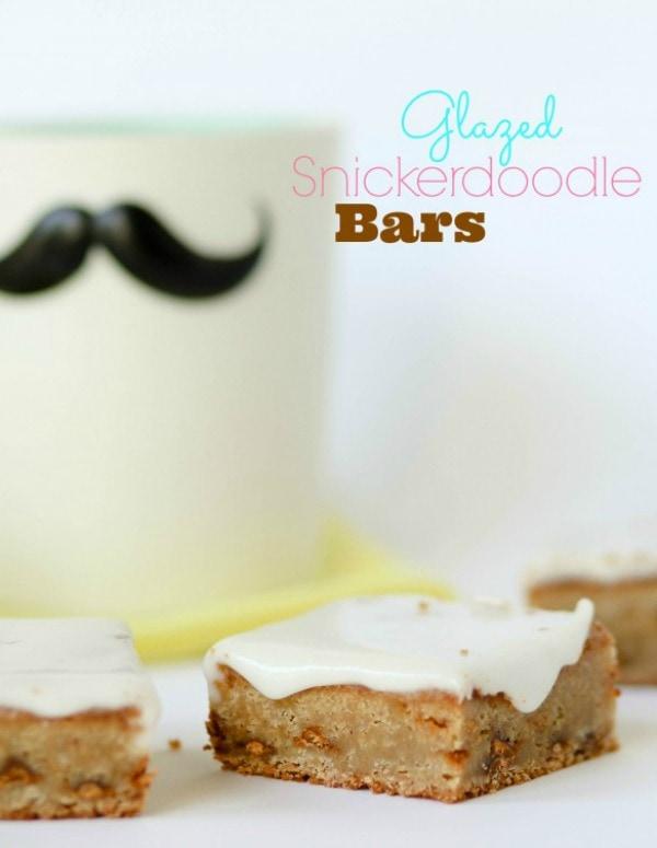 Glazed Snickerdoodle Bars