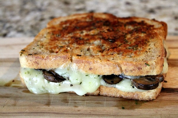 Mushroom Grilled Cheese with Balsamic Caramelized Onions 12