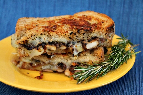 Mushroom Grilled Cheese with Balsamic Caramelized Onions 13