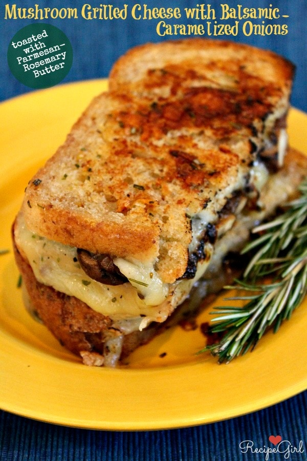 Mushroom Grilled Cheese with Balsamic Caramelized Onions 15