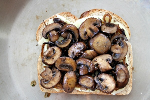 Mushroom Grilled Cheese with Balsamic Caramelized Onions 7