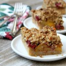 Peach and Raspberry Pie Bars