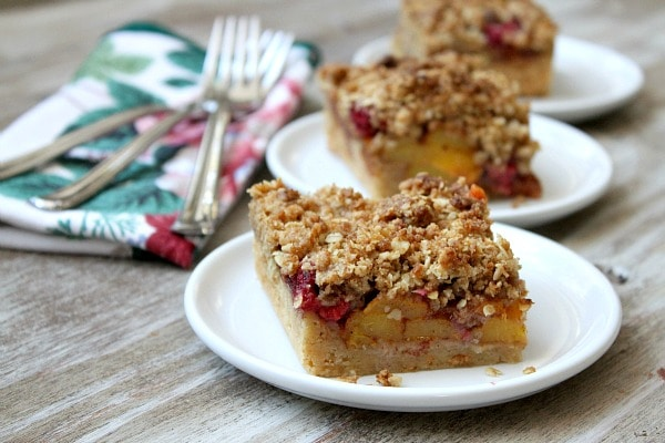 ... and start baking! Start with these Peach and Raspberry Pie Bars