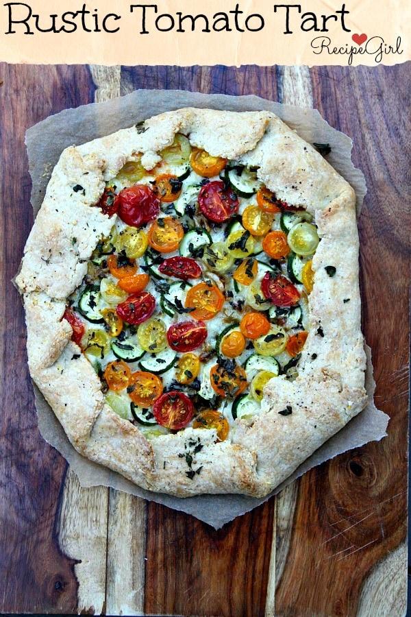 Rustic Tomato Tart Recipe - RecipeGirl.com