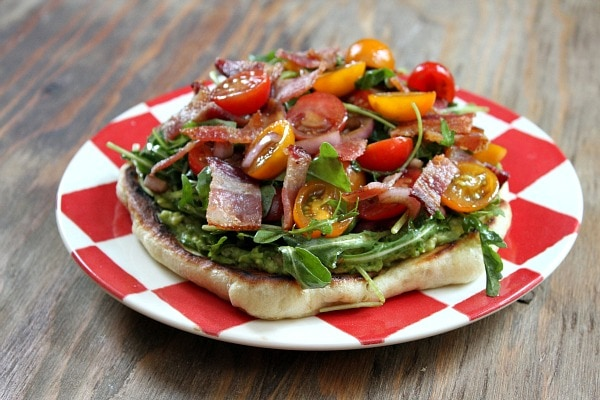 Bacon- Avocado Griddle Pizza