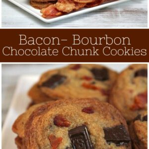 pinterest collage image for bacon bourbon cookies