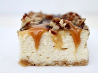 Caramel Pecan Cheesecake Bars - RecipeGirl.com