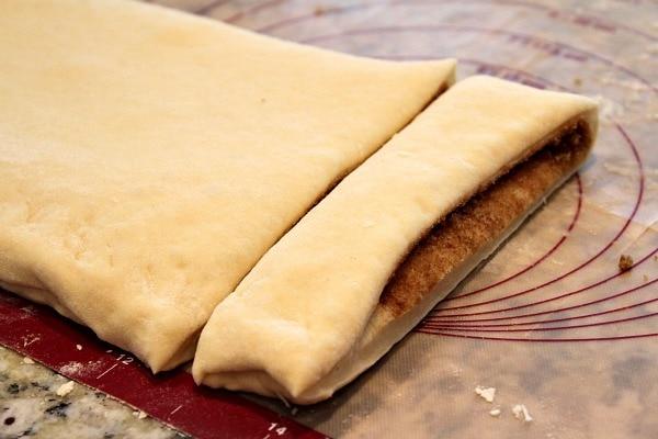 Cinnamon Twist Pastries - Cut
