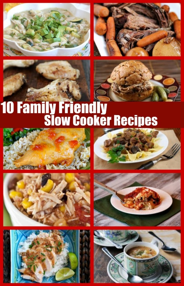 Family Friendly Slow Cooker Recipes 600