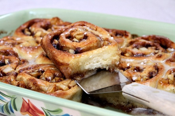 No Yeast Apple Cinnamon Rolls