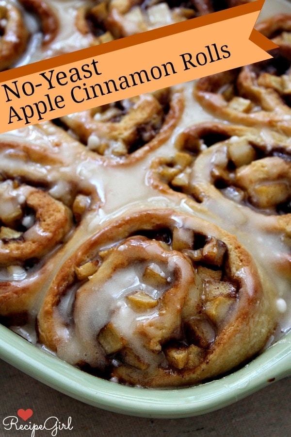 No Yeast Apple Cinnamon Rolls Pinterest Image