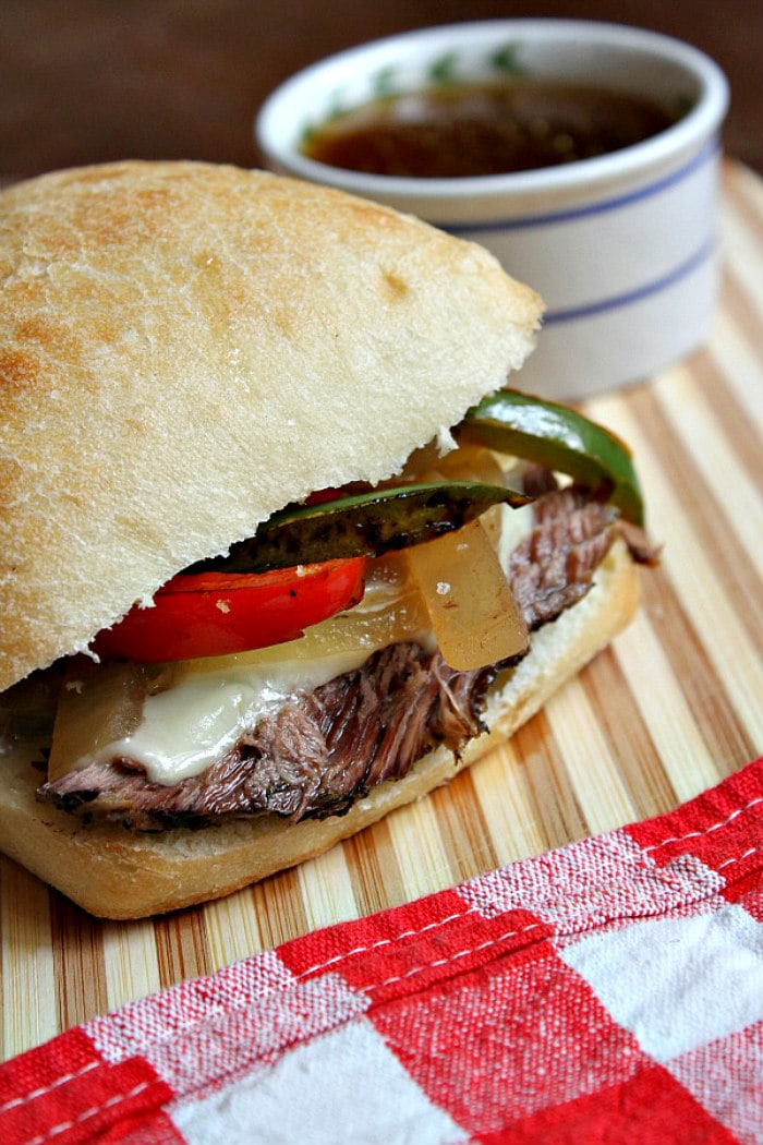 Slow Cooker French Dip Sandwiches with Dipping Broth