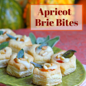 apricot brie bites pinterest image