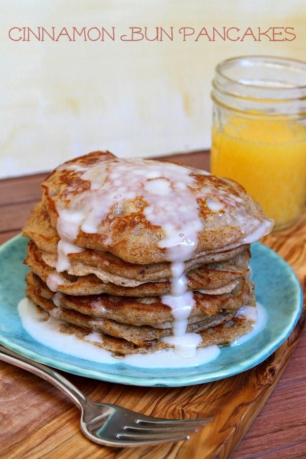 Cinnamon Bun Pancakes 600