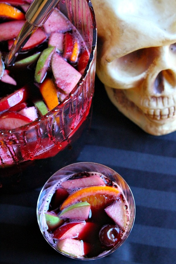 Halloween Sangria from RecipeGirl.com