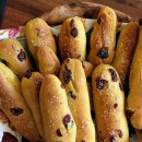 Pumpkin- Cranberry Breadsticks
