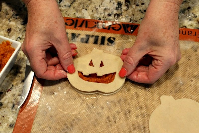 making pumpkin pop tarts