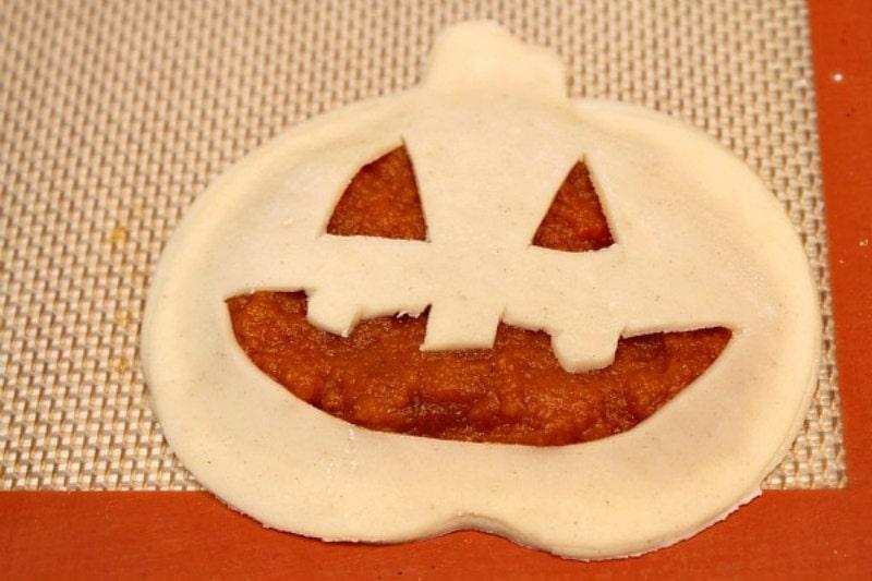 pumpkin pop tart ready for the oven