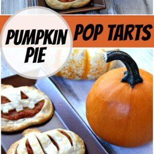 pinterest collage image for pumpkin pie pop tarts