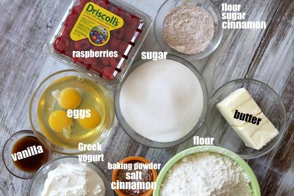 Raspberry- Cinnamon Loaf Cake 1
