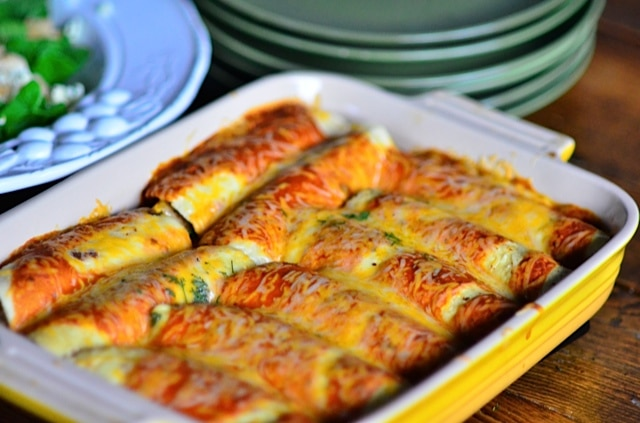 Roasted Butternut Squash and Black Bean Enchiladas