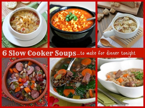 6 Slow Cooker Soups 600