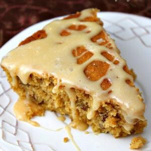 pumpkin pecan skillet cake pinterest image