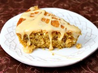 Pumpkin Pecan Skillet Cake with Salted Butterscotch Glaze