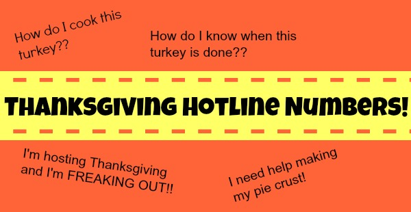 Thanksgiving Hotline Numbers