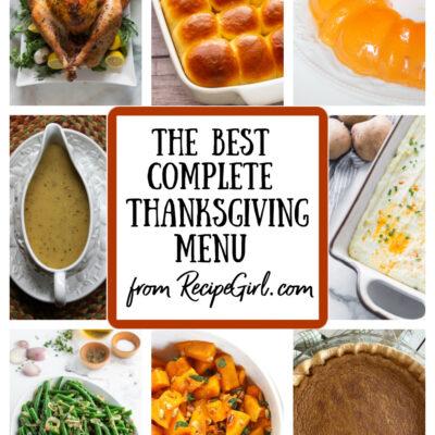 Thanksgiving Menu from RecipeGirl
