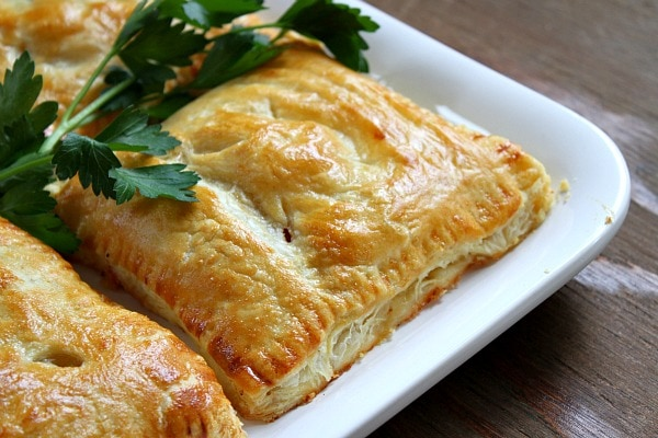 Turkey, Mushroom and Bacon Puff Pastry Pockets | Leftover Turkey Recipes To Extend Your Thanksgiving Celebration