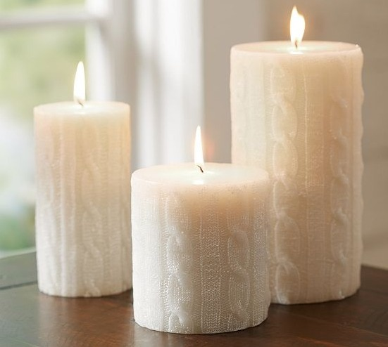 Cable Knit Candles