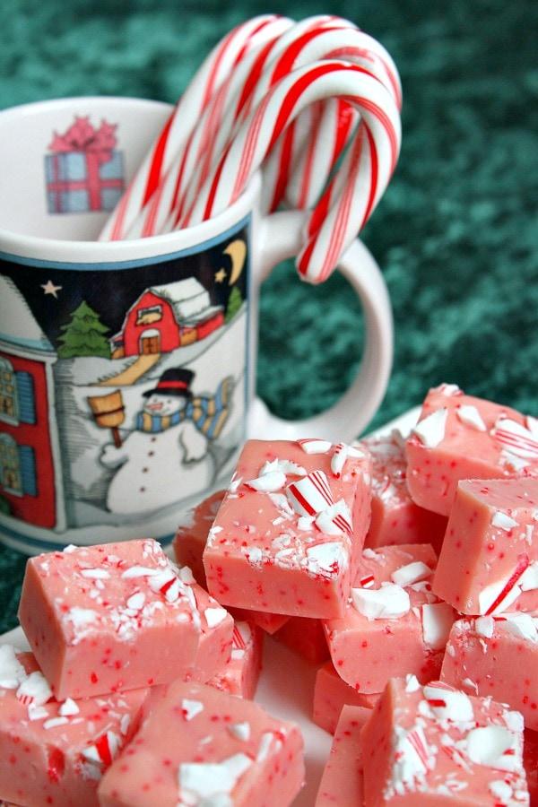 Candy Cane Fudge - RecipeGirl.com