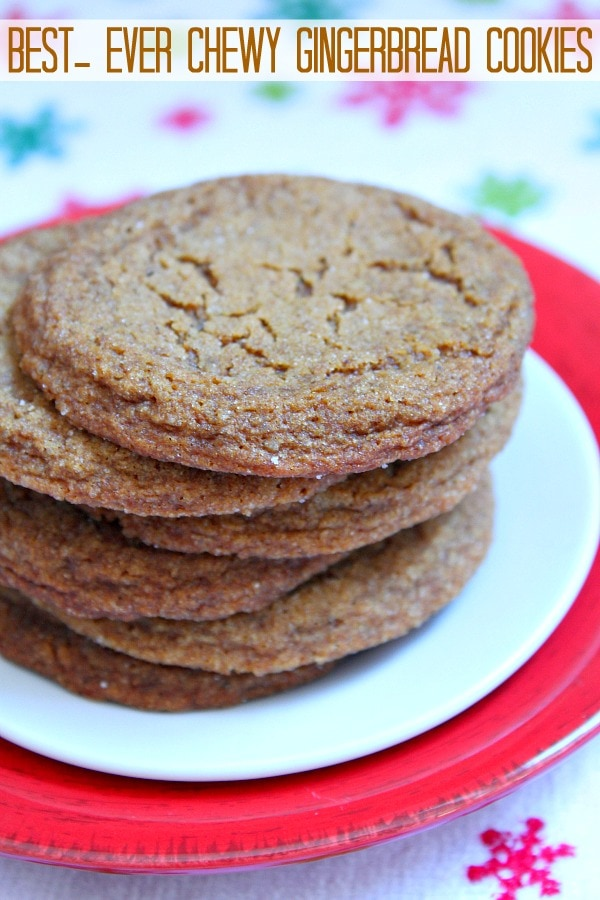 Chewy Gingerbread Cookies 600