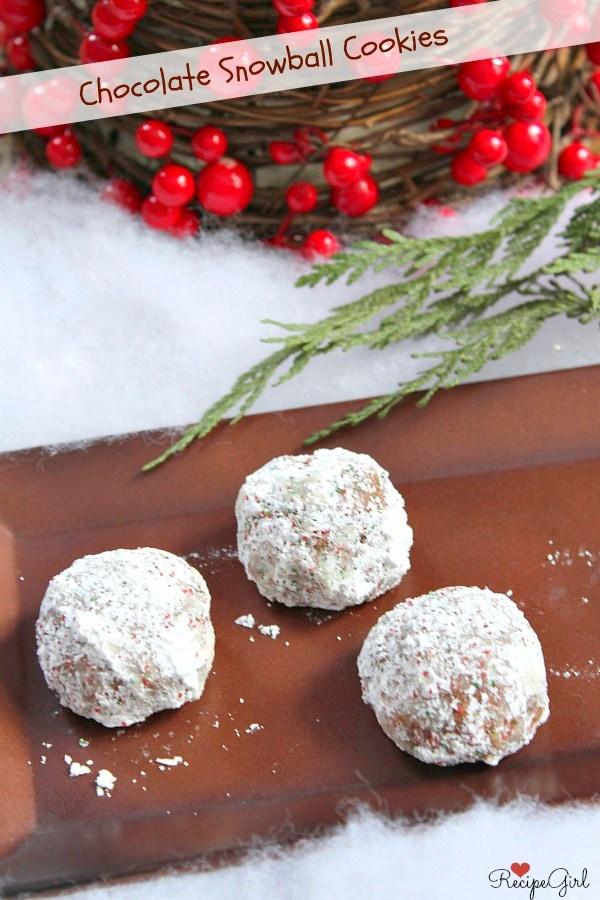 Chocolate Snowball Cookies - RecipeGirl.com