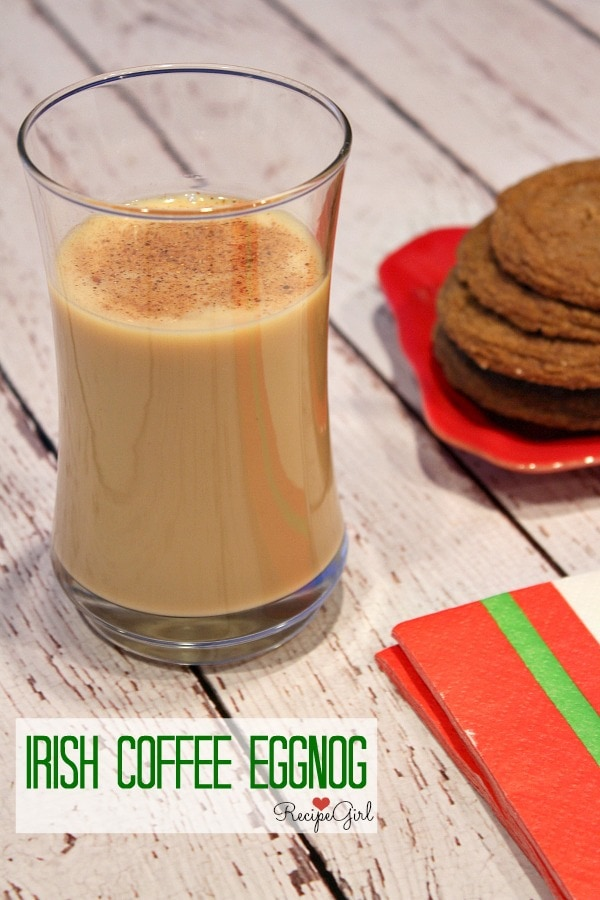 Irish Coffee Eggnog - RecipeGirl.com