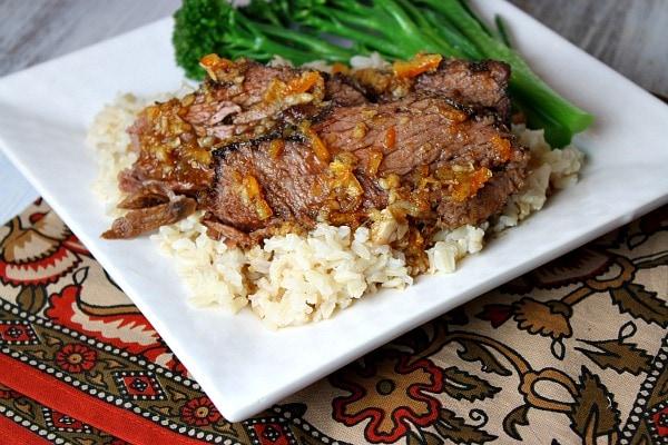 Slow Cooker Orange Beef Roast