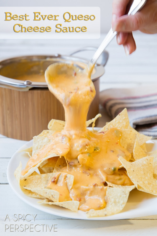 Best Ever Queso Cheese Sauce