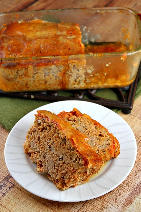 Chicken Parmigiana Meatloaf - RecipeGirl.com