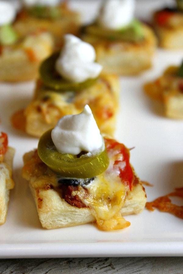 Puff Pastry Nachos - RecipeGirl.com