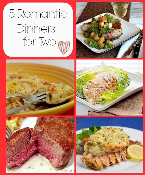 5 Romantic Dinners for Two