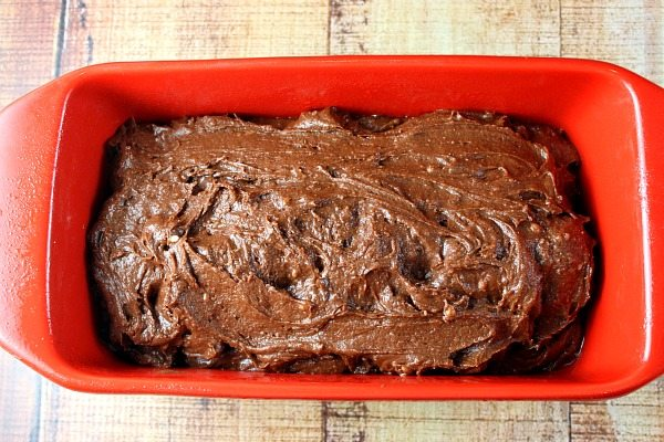 Chocolate Loaf Cake ready for the oven