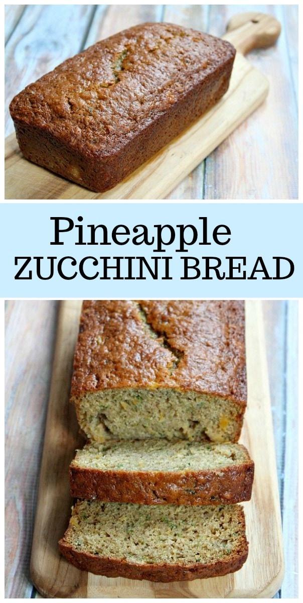 Pineapple Zucchini Bread recipe from RecipeGirl.com #pineapple #zucchini #bread #RecipeGirl #bread