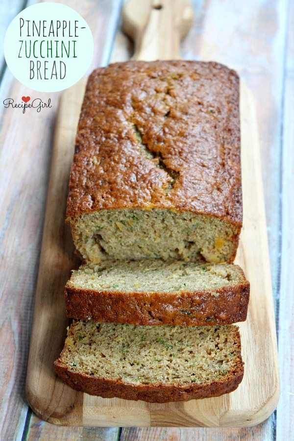 Pineapple Zucchini Bread - RecipeGirl.com